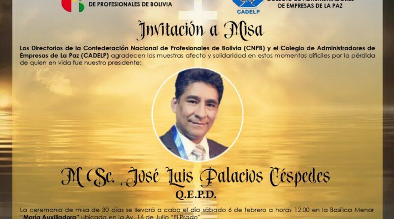 MSC. JOSE LUIS PALACIOS CESPEDES